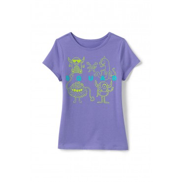 Girls' Graphic T-Shirts In Large Sizes